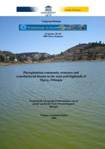 Phytoplankton community structure and