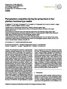 Phytoplankton competition during the spring bloom ... - Biogeosciences