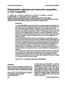 Phytoplankton pigments and community composition in Lake ...