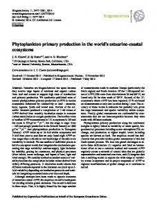 Phytoplankton primary production in the world's ... - Biogeosciences