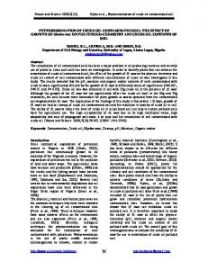 PHYTOREMEDIATION OF CRUDE OIL CONTAMINATED SOIL: THE ...