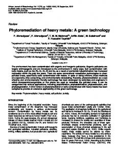 Phytoremediation of heavy metals: A green ... - Academic Journals