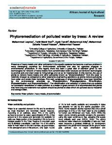 Phytoremediation of polluted water by trees: A ... - Academic Journals