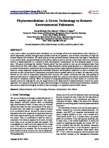 Phytoremediation - Scientific Research Publishing