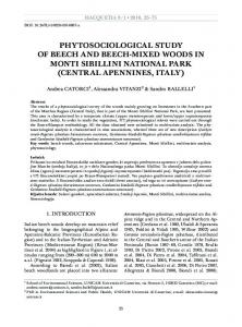 phytosociological study of beech and beech-mixed ...