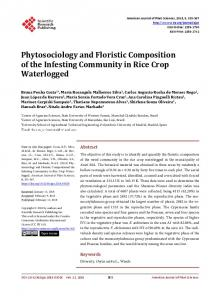 Phytosociology and Floristic Compositionof the