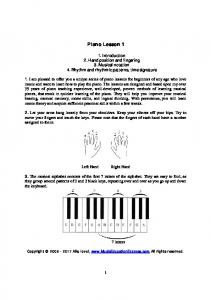Piano Lesson 1 - Piano Lessons - Music Education Express