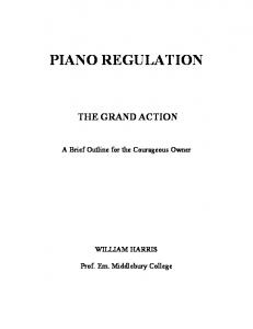 PIANO REGULATION - Community Middlebury - Middlebury College