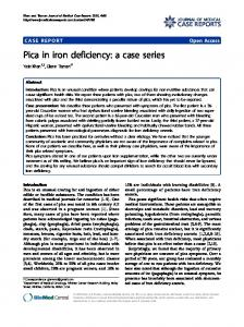 Pica in iron deficiency