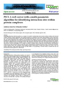 PICI: A web server with a multi-parametric ... - Semantic Scholar