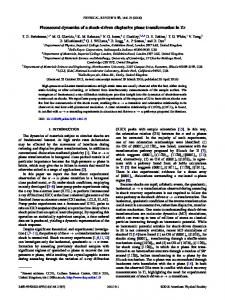 Picosecond dynamics of a shock-driven ... - APS Link Manager