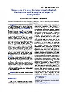 Picosecond UV laser induced morphological, biochemical and ...