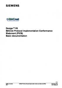 PICS - BACnet International