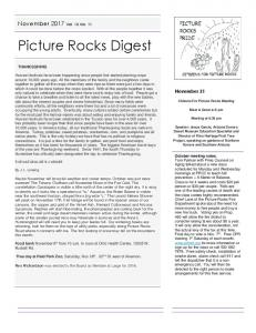 PICTURE ROCKS DIGEST - citizens for picture rocks