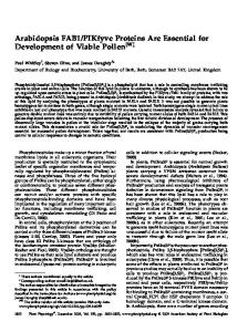 PIKfyve Proteins Are Essential ... - Plant Physiology