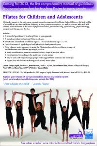 Pilates for Children and Adolescents - Pilates Staten Island