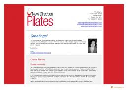 Pilates news from The Studio - New Direction Pilates