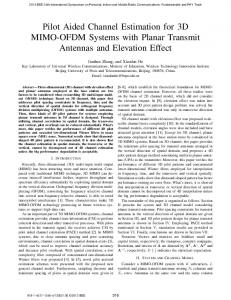 Pilot Aided Channel Estimation for 3D MIMO-OFDM ... - IEEE Xplore