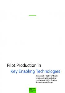 Pilot Production in Key Enabling Technologies - The Multi Key ...
