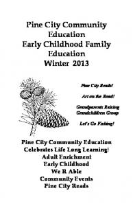Pine City Community Education Early Childhood Family Education ...