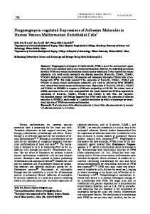 Pingyangmycin-regulated Expressions of Adhesion ... - Springer Link
