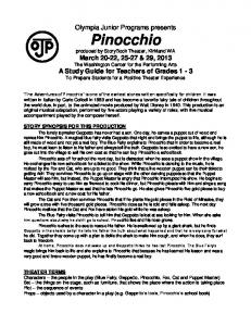 Pinocchio - Olympia Junior Programs