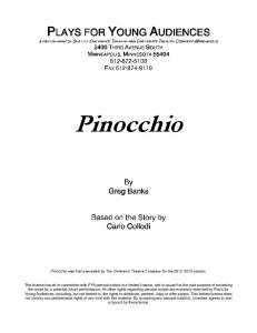 Pinocchio - Plays for Young Audiences