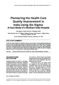 Pioneering the Health Care Quality Improvement in ...