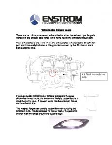 Piston Engine Exhaust Leaks - Enstrom Helicopter Corp.