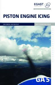 Piston Engine Icing, safety promotion leaflet - SKYbrary