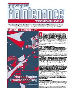 Piston Engine Troubleshooting - Kelly Aerospace