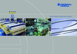 Piston rings for large bore engines - Federal-Mogul Corporation
