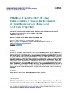 Pitfalls and Uncertainties of Using Potentiometric Titration for