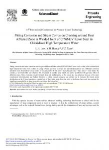 Pitting Corrosion and Stress Corrosion Cracking ... - ScienceDirect