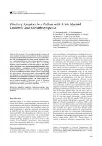 Pituitary Apoplexy in a Patient with Acute Myeloid ... - Springer Link