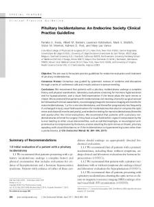 Pituitary Incidentaloma: An Endocrine Society Clinical Practice Guideline