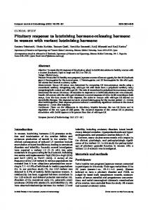 Pituitary response to luteinizing hormone-releasing hormone in ...