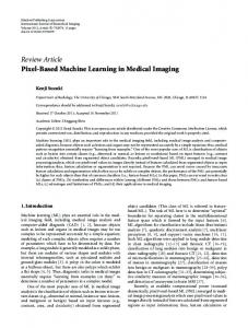Pixel-Based Machine Learning in Medical Imaging