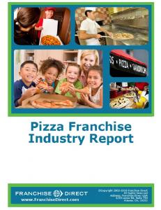 Pizza Franchise Industry Report 2010 - PizzaTracer.com
