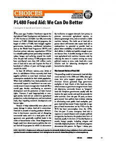 PL480 Food Aid - Semantic Scholar