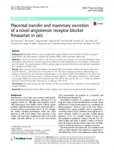 Placental transfer and mammary excretion of a novel angiotensin ...