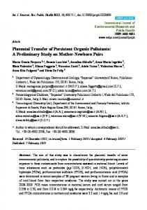 Placental Transfer of Persistent Organic Pollutants: A ... - BioMedSearch