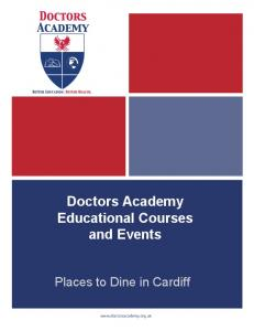 Places to Dine in Cardiff - Doctors Academy