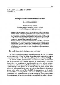 Placing biopesticides on the Polish market