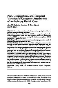 Plan, Geographical, and Temporal Variation of ... - Wiley Online Library