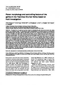 Planar morphology and controlling factors of the gullies in the ...