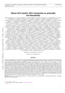 Planck 2013 Results. XXIV. Constraints on primordial non-Gaussianity