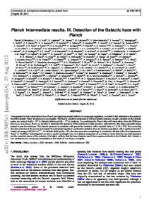 Planck Intermediate Results. IX. Detection of the Galactic haze with ...