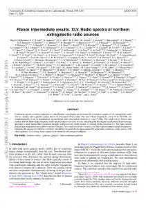Planck intermediate results. XLV. Radio spectra of northern ...