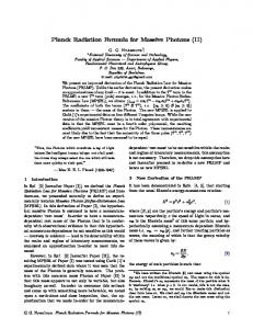 Planck Radiation Formula for Massive Photons (II)